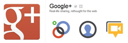 Google+'s page