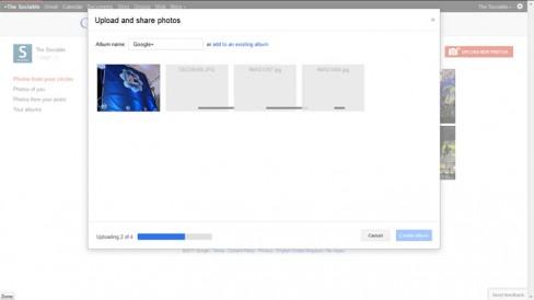 Google+'s photo uploader