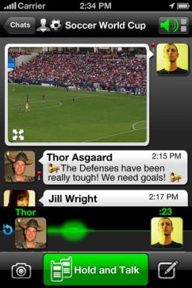 Voxer walkie-talkie iPhone app