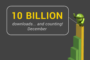 10 billion Android apps downloaded