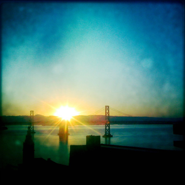 This image of the Oakland Bay Bridge was taken by David Gardner on an iPhone 4