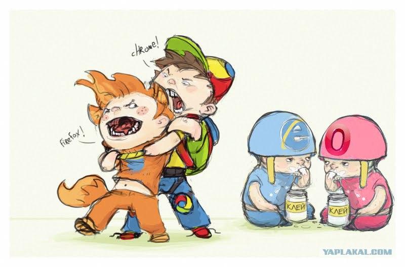 Chrome - Firefox- Internet Explorer - Opera battle