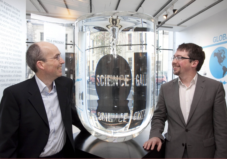 David Martin, Director of Geo Operations at Google with Michael John Gorman, Director of Science Gallery Dublin