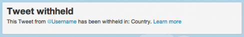 Censored tweet notice