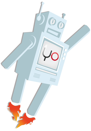 Yottaa's mascot Yo The Yottaabot