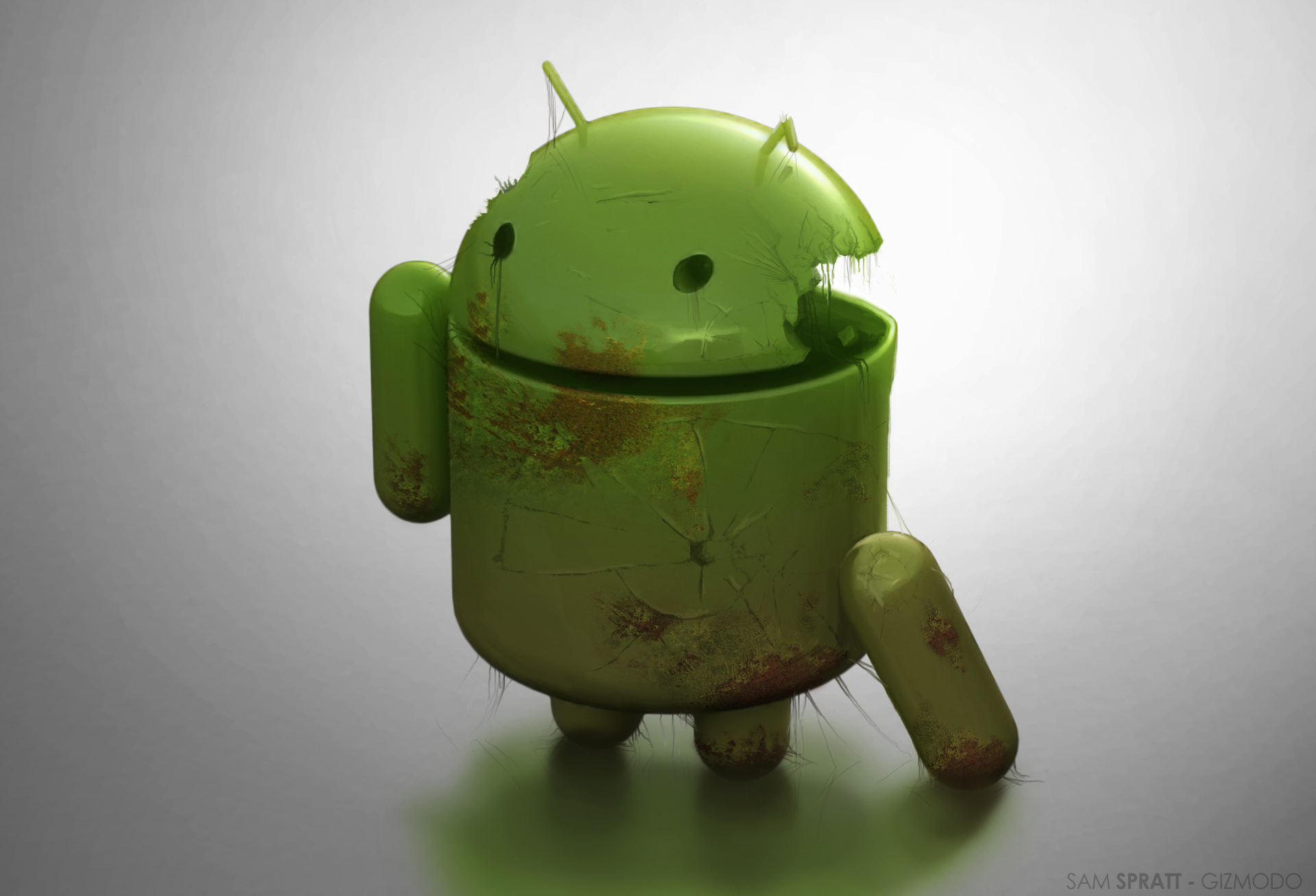 Damaged Android