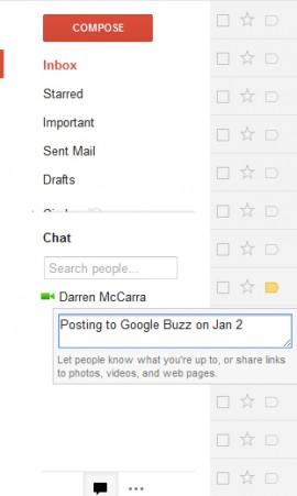 Gmail Chat Status