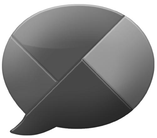 Google Buzz Logo black and white