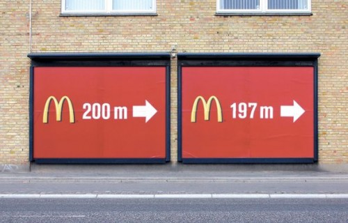 McDonalds billboard ad