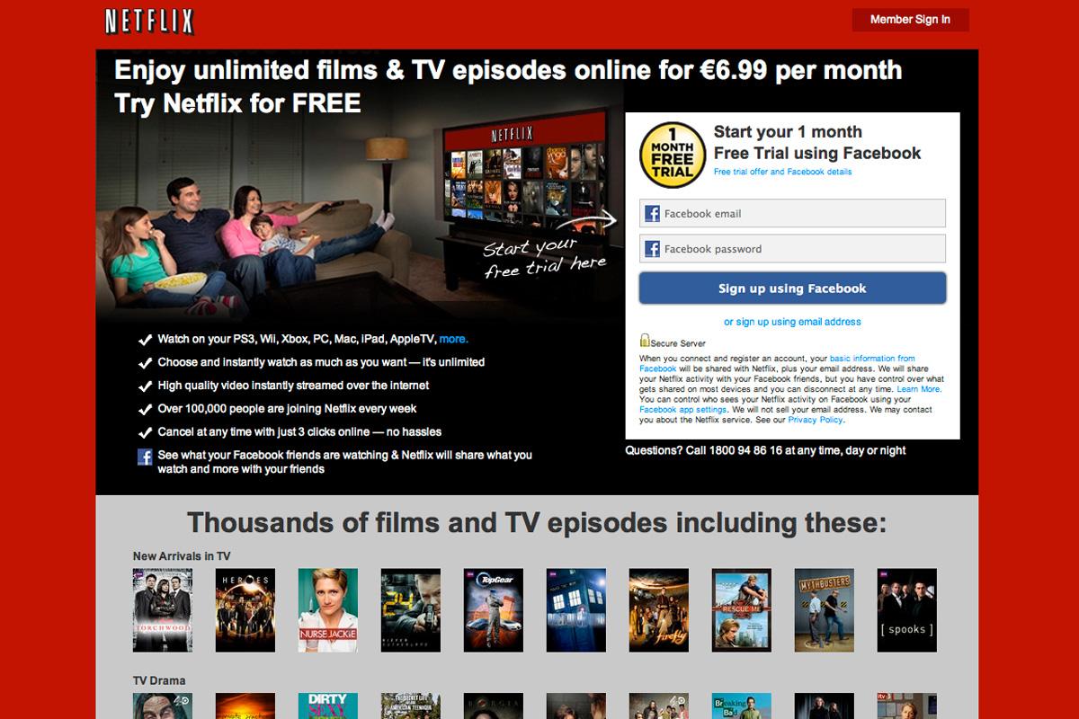 Netflix Ireland and UK launch