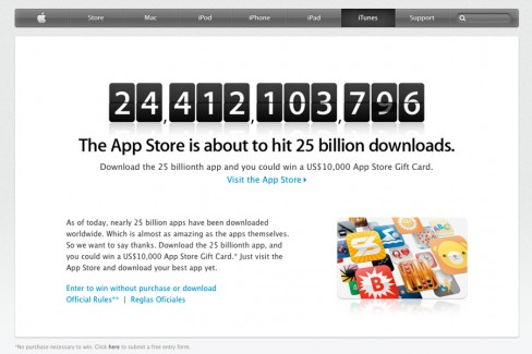 Apple blasts through 25 billion app store downloads slashgear.