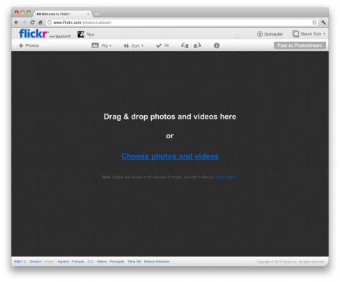 Flickr's new Uploadr