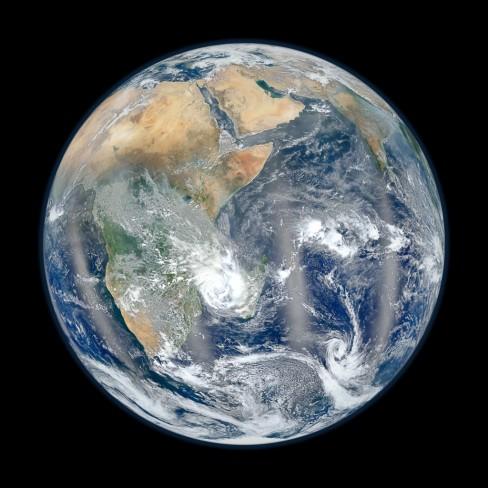 NASA Blue Marble East 2012