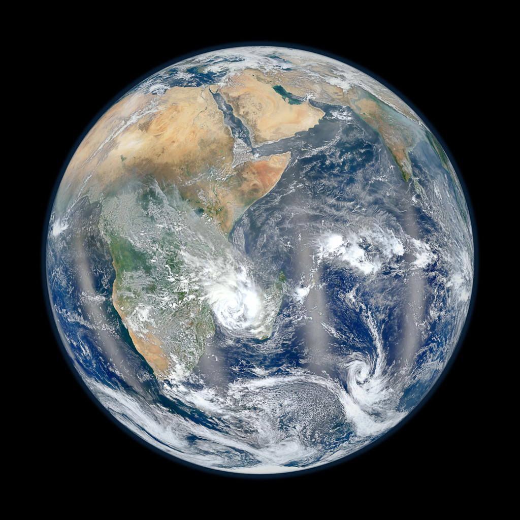 NASA Blue Marble East 2012