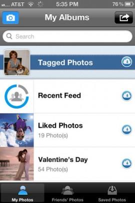 Photobox! groups all tagged photos into a single folder