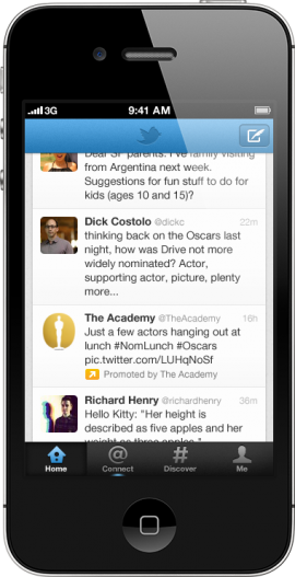 Promoted tweet on Twitter for iPhone