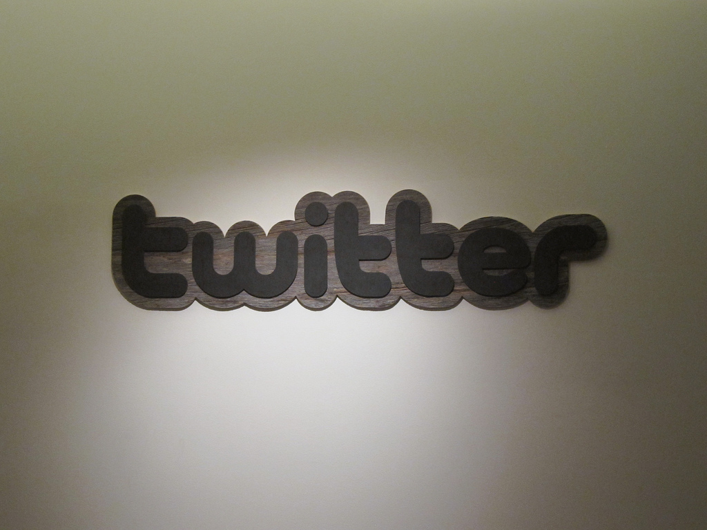 Twitter office sign