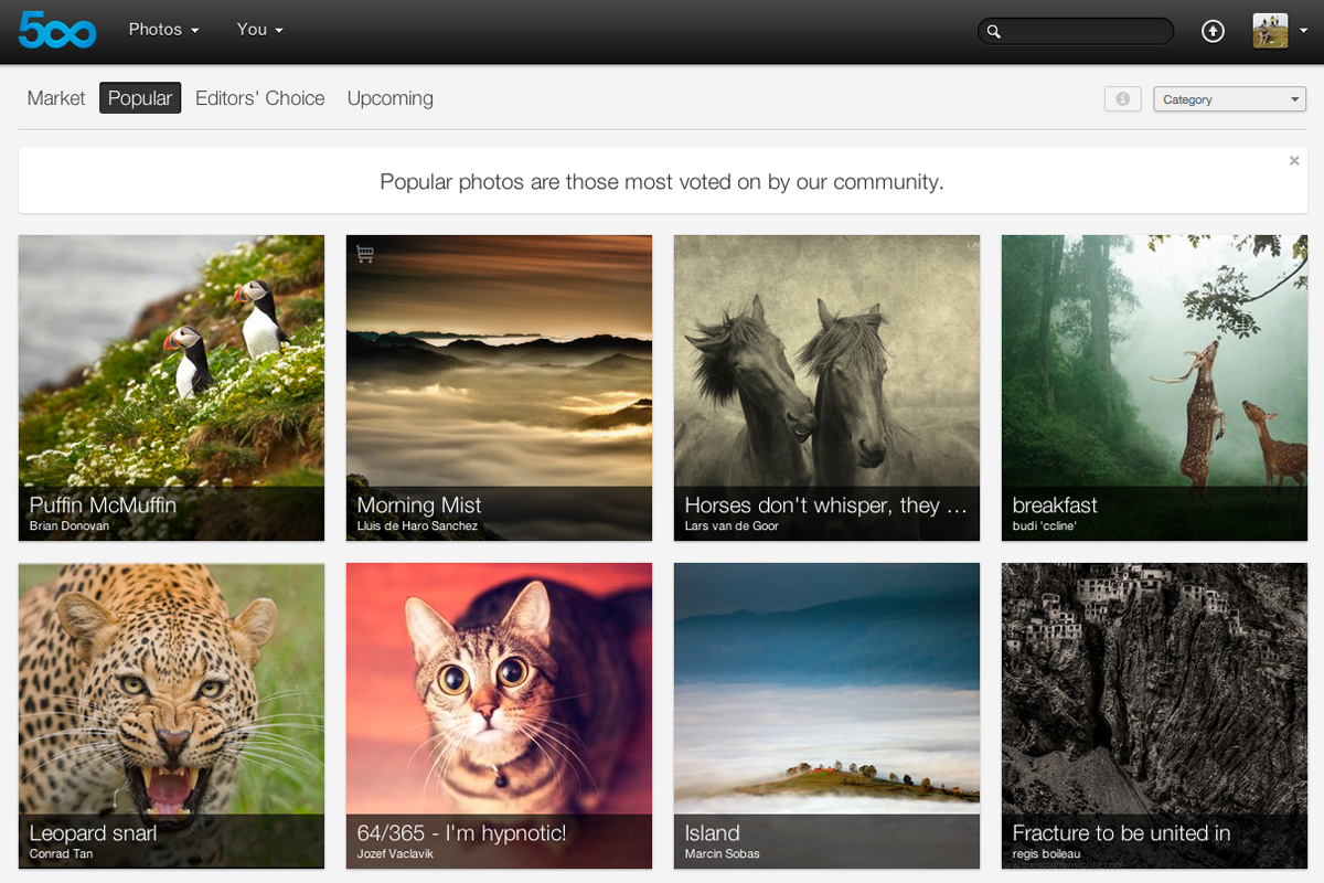 500px now lets you buy and sell photographs, introduces new content