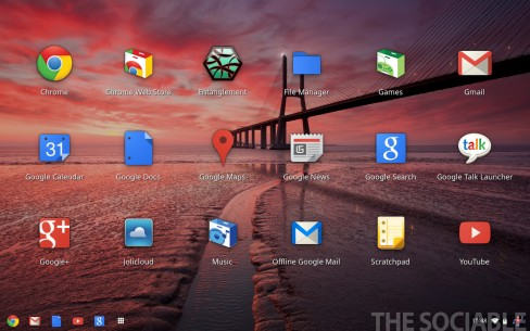 Chrome OS - Applications launcher