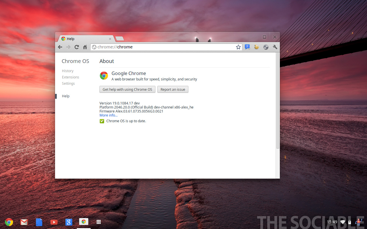 Chrome OS – Version 19, developer preview
