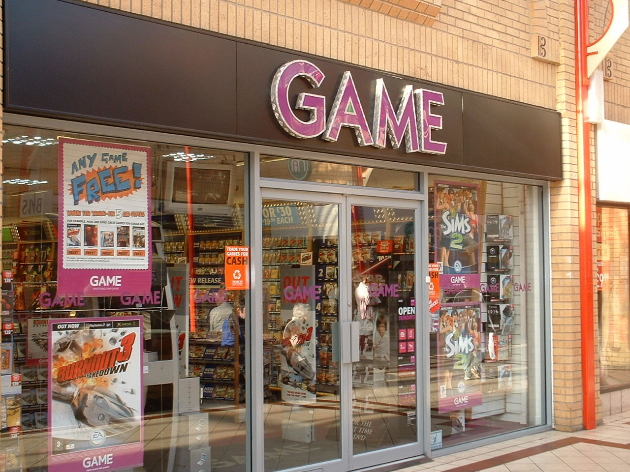 GAME store in the UK