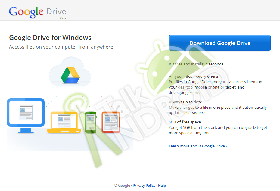 Google Drive leaked screenshot