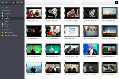 Videos grouped in Jolicloud Me
