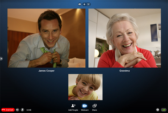Skype's multi-user video chat