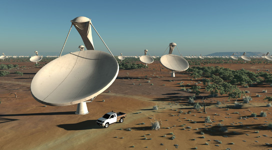 Artist's impression of the Square Kilometre Array (SKA)