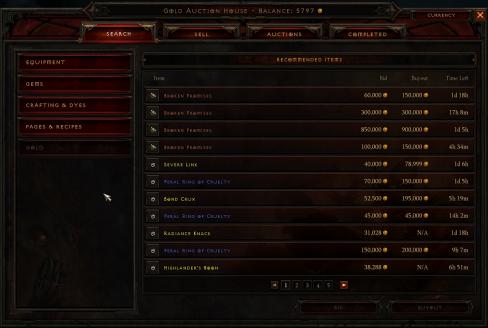 Diablo 3 Auctions