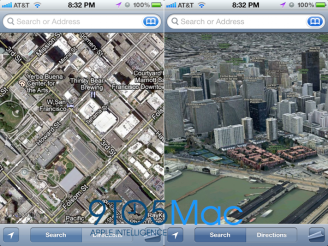 New Maps application mock-up