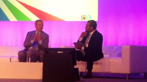 Eric Schmidt on stage at Big Tent 2012
