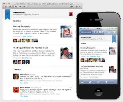 Twitter's weekly email digest