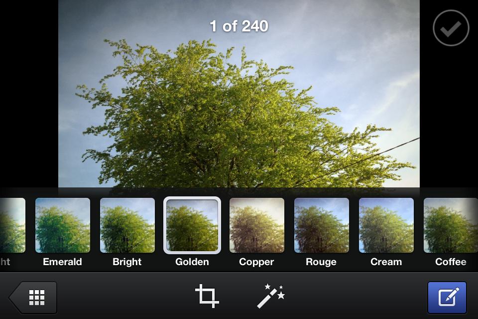 Facebook Camera: Filters like Instagram