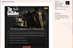 Example of Gmail email ad for Kabam's Godfather Five Families game