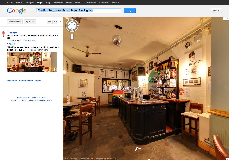 The Fox Pub, Lower Essex Street, Birmingham on Google Business Photos