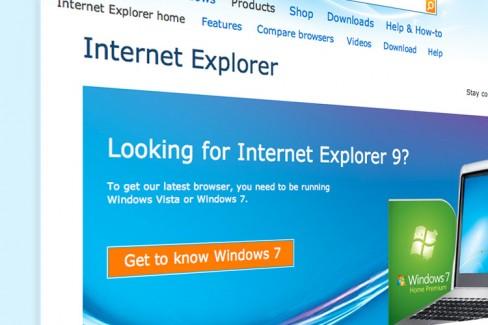 Internet Explorer 9, its current version