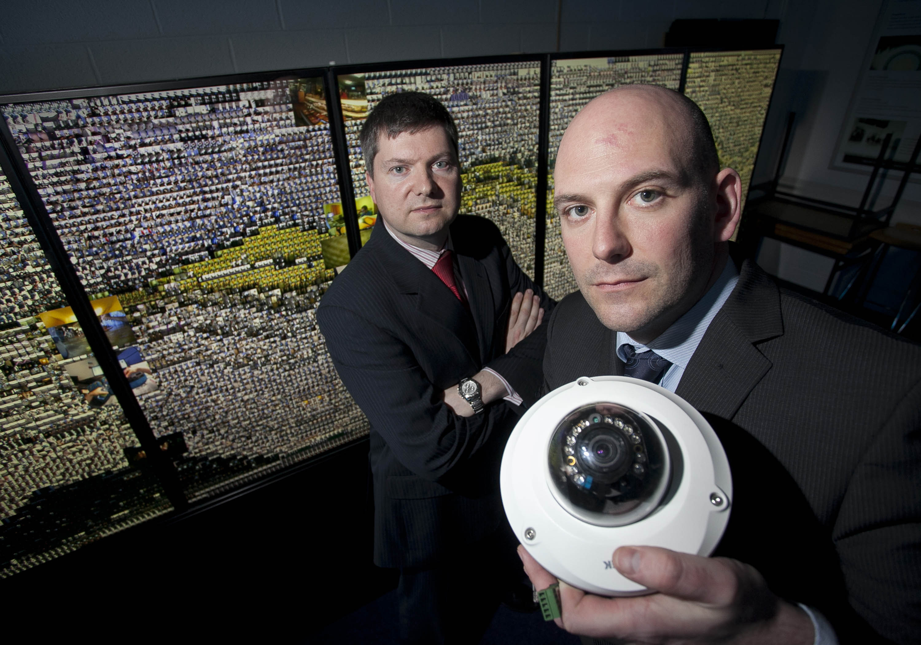 Niall Dorr, Innovation Manager at Netwatch and Professor Noel O'Connor, a Principal Investigator in CLARITY