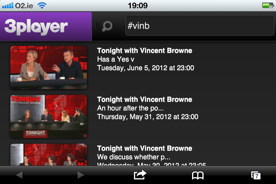 TV3's new 3 Player web app