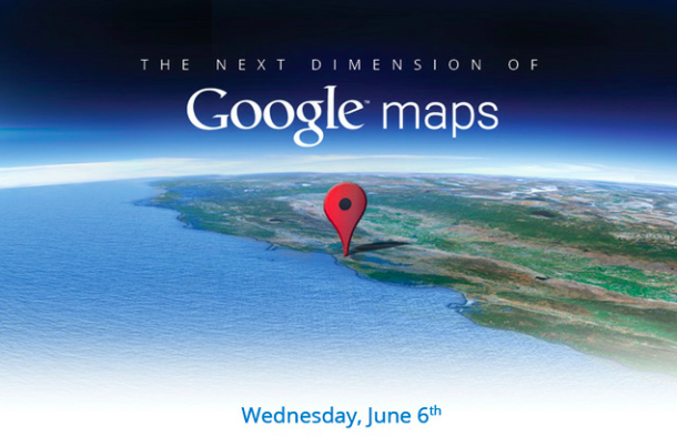 Google Maps 3D event invite