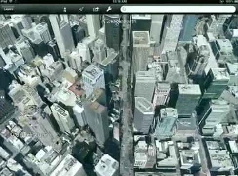 Google Maps 3D cityscape