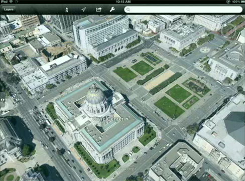 Google Maps 3D building