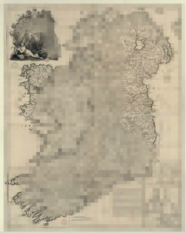 Ireland Map Pixelated