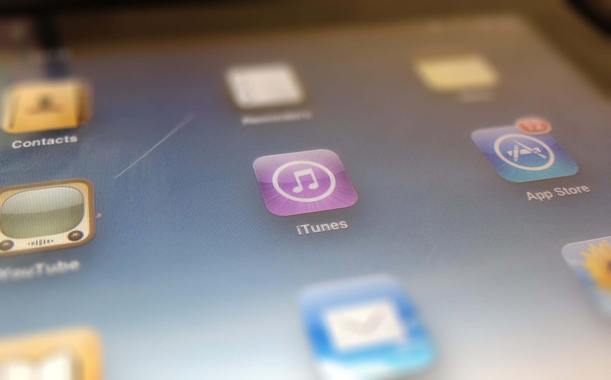 iTunes on iPad. Credit: The Sociable