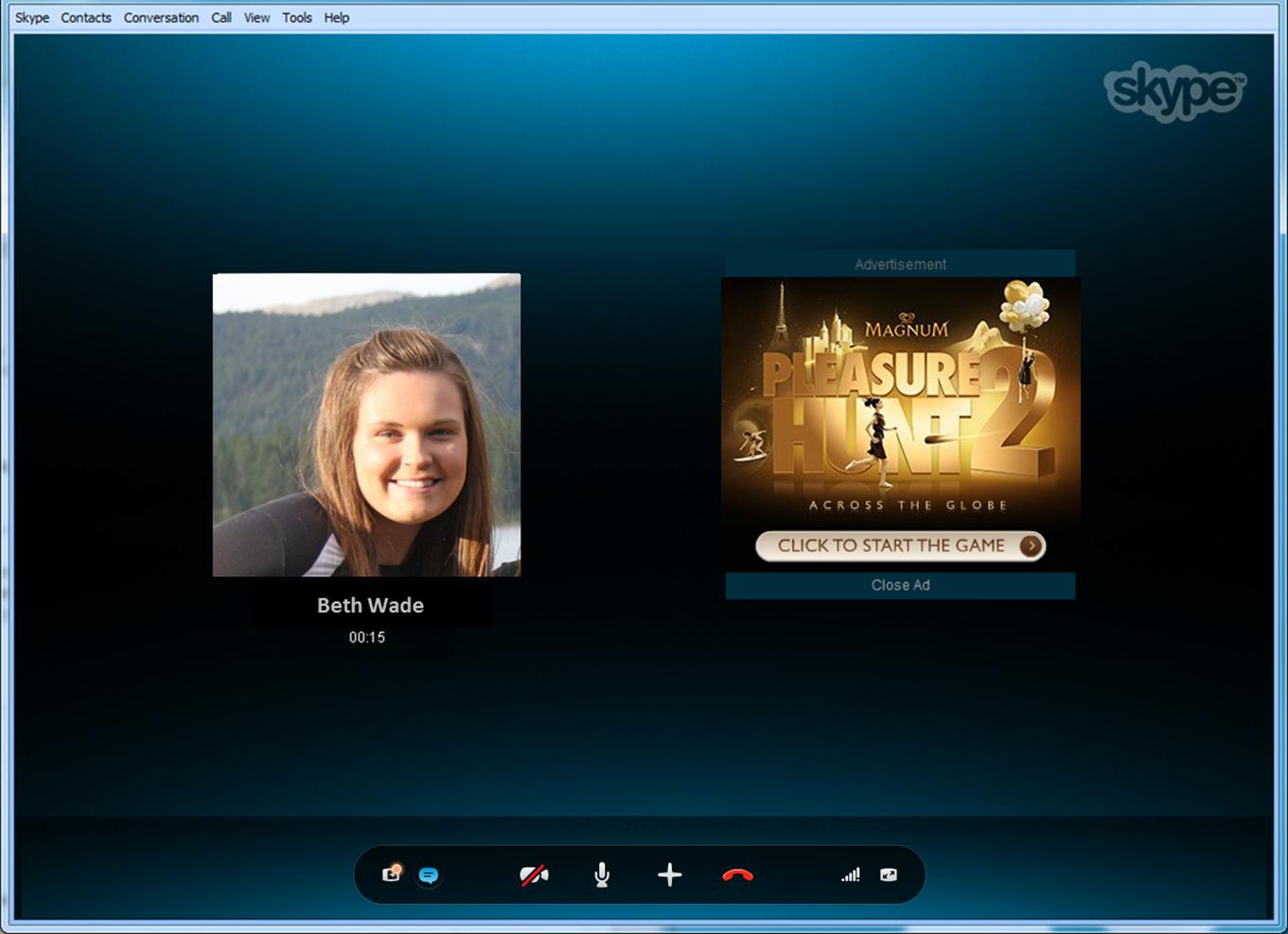 Skype's new Conversation Ad