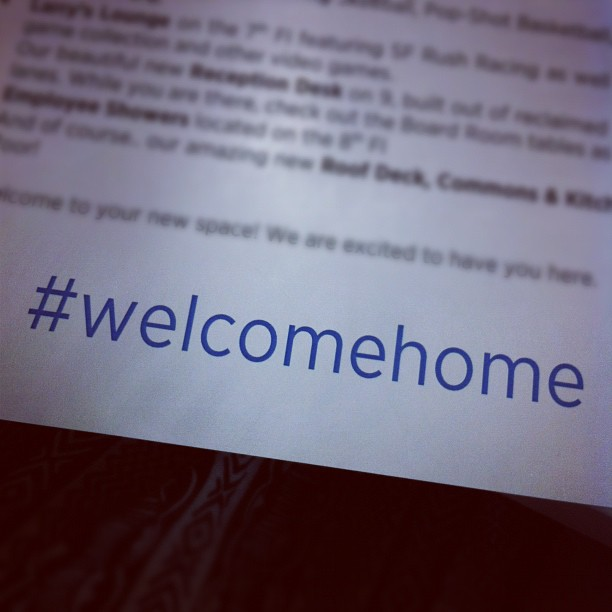 Twitter #welcomehome