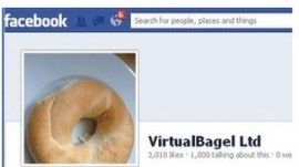 VirutalBagel fake Facebook page