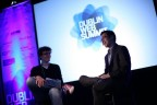 Paddy Cosgrave (left), founder of the Dublin Web Summit at last year's event
