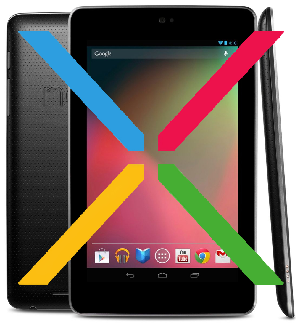 Google Nexus 7 with X logo