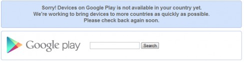 Google Play territory block